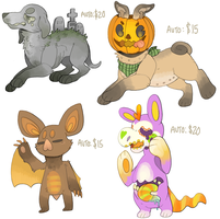 Unsold Halloweenies + GRAVEYARD DOG! Paypal. by P00CHYENA