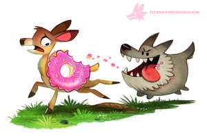 Daily Paint #1191. Doenut by Cryptid-Creations
