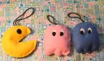Pac-Man Ornaments by SweetNerdyCakes