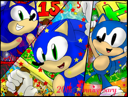Sonic 20th Anniversary by Animegirl300