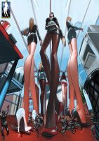 Unaware High Heel Crushing by giantess-fan-comics