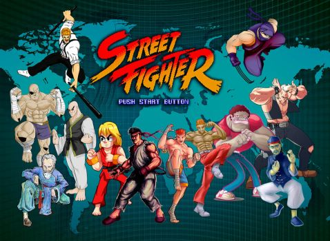 Street Fighter 1 Poster Collab by JAG-Comics