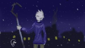 Jack frost snowy night by co-nay