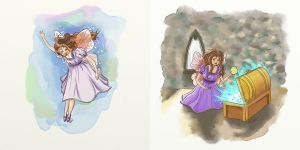 fairy illustrations for a cancelled project by vrm1979