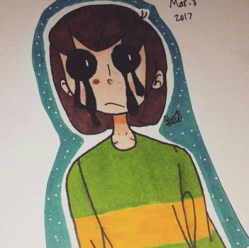 Chara Finished {Undertale} by WeeabooCyborg