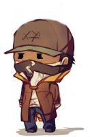 Watchdogs Chibi - Aiden Pierce by Lo1woodz