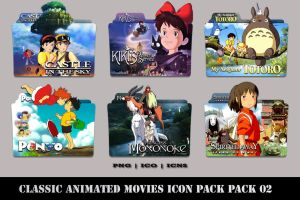 Classic Animated Movies Folder Icon Pack 02 by Bl4CKSL4YER