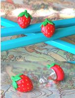 Strawberry Ear Studs by Madizzo