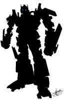 OPTIMUS PRIME Silhouette by RyGuy52