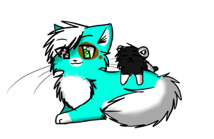 +Point Commish+ Kami and her Panda by Stressed-Panda
