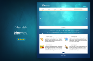 bluewave -  wordpress theme by nicomoeller