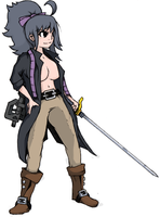 Fighter Steph: Color by Hero-in-Pixels
