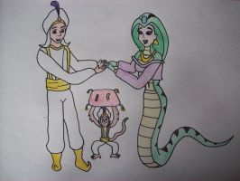 Aladdin and Naga Jasmine Marry by EduartBoudewijn