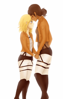 Ymir and Christa by Natsunohuyana