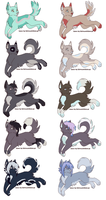 Adoptables (Open) by gr33n-puppy
