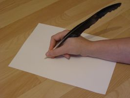 Quill feather pen thang.... by chop-stock