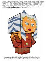 Cubeecraft - Ahsoka Tano by CyberDrone