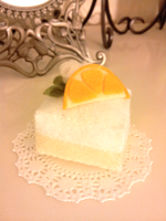 Lemon + orange felt cake by pommeraie