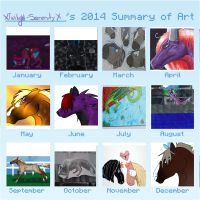 2014 Summary Of Art by XTwilight-SerenityX