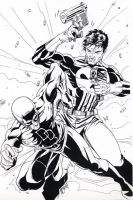 Punisher vs Daredevil by martheus