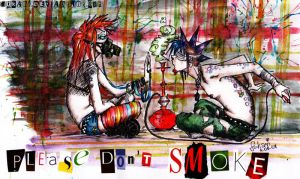 .please don't smoke. by Fukari