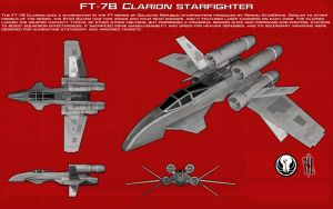 FT-7B Clarion starfighter ortho [New] by unusualsuspex