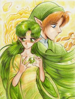 Link and Farore by Annausagi