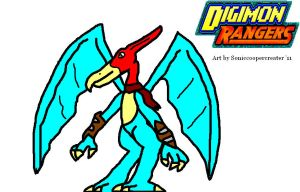 Digimon Rangers: Swoopmon by AvalarGuardian