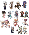 Chibis by shrimpHEBY