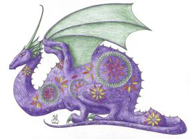 Easter Egg Dragon by Scellanis