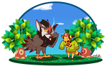 PKMN Crossing-Danny and Jenna by TamarinFrog