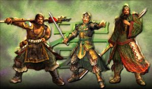 Shu Brothers Dynasty Warriors by DraconianBlade