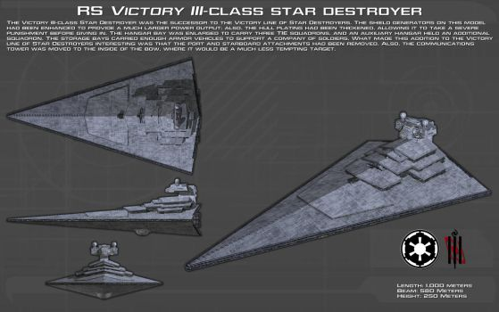 RS Victory III-class star destroyer ortho [New] by unusualsuspex