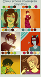 Color scheme meme: Homestuck by crestitella
