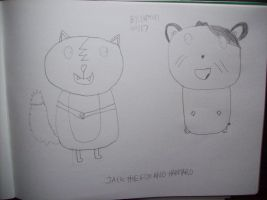 RQ#19 Jack The Fox And Hamtaro by CARTOONGUY17