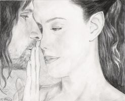 Arwen and Aragorn by kcbird3