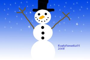 Snowman-Photoshop Painting by RustyFanatic05