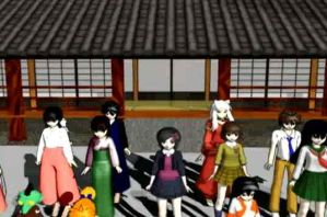 MMD InuYasha Group Download by SachiShirakawa