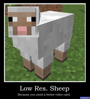 Low Resolution Sheep by Rthecreator