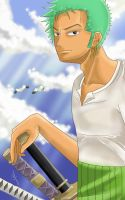 One Piece Roronoa Zoro by faerhann