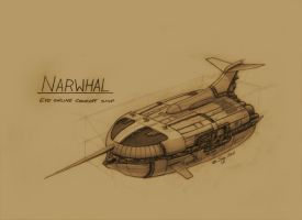 EVE Online Concept Cruiser Narwhal by SARGY001