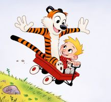 Calvin and Hobbes by LuigiL