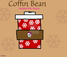 Coffin Bean holiday cup by DarkRoseDiamond123