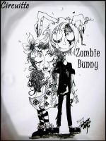 Circuitte and  Zombie Bunny by ragamuffinlover
