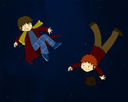 Arthur Dent and Ford Prefect by whosname