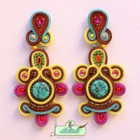 One of a kind Soutache Earrings by DILETTANTEsoutache