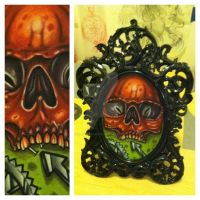 framed skull by sliceman424