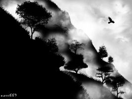 silhouette mountain by mossi889