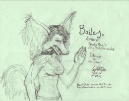 Bailey Anthro - Free Commission of Rae's OC by Tranzopus