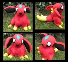 OC - Raika custom plush by Kitamon